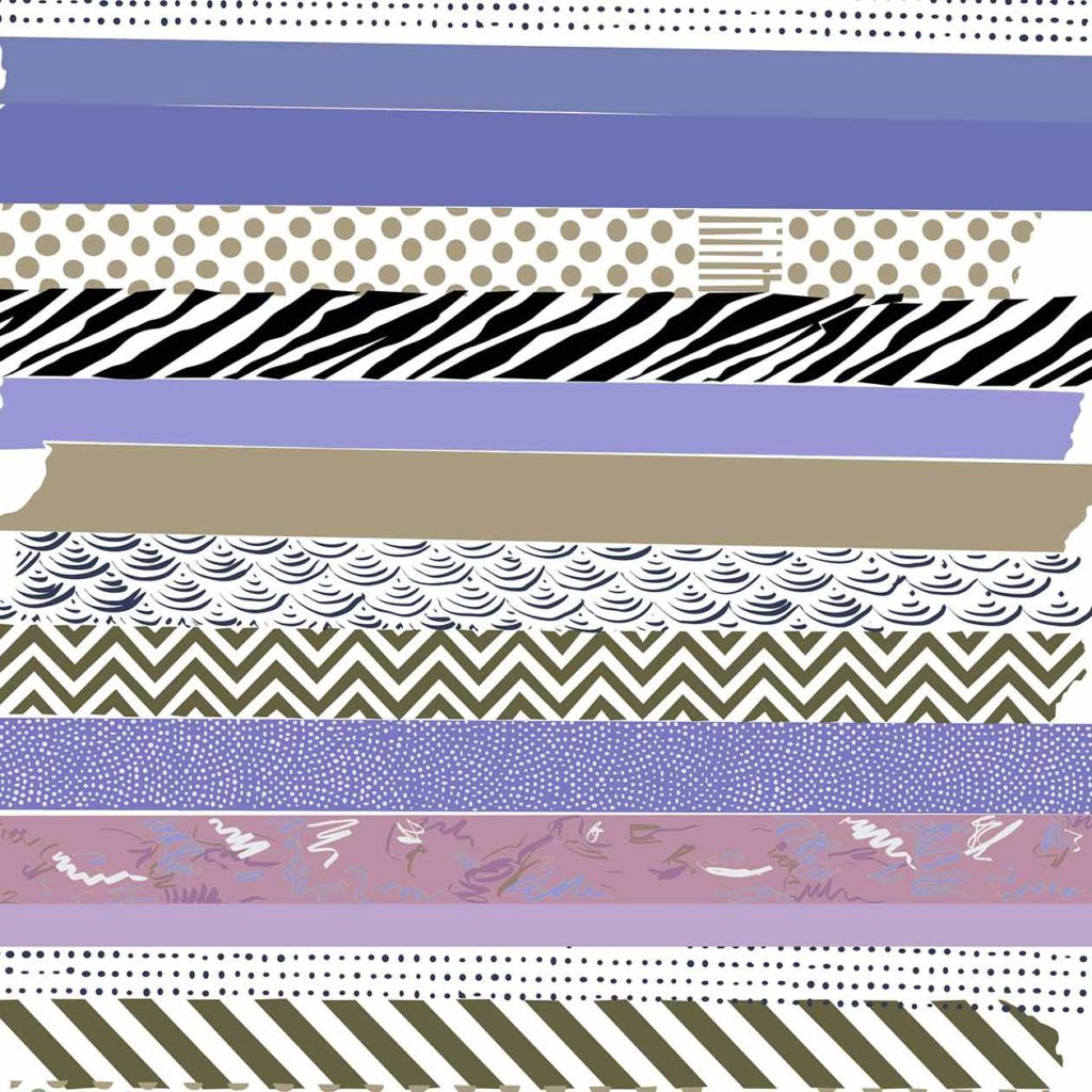 Washi tape illustration Portfolio