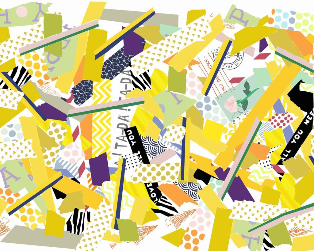 Yellow mix washi tape design