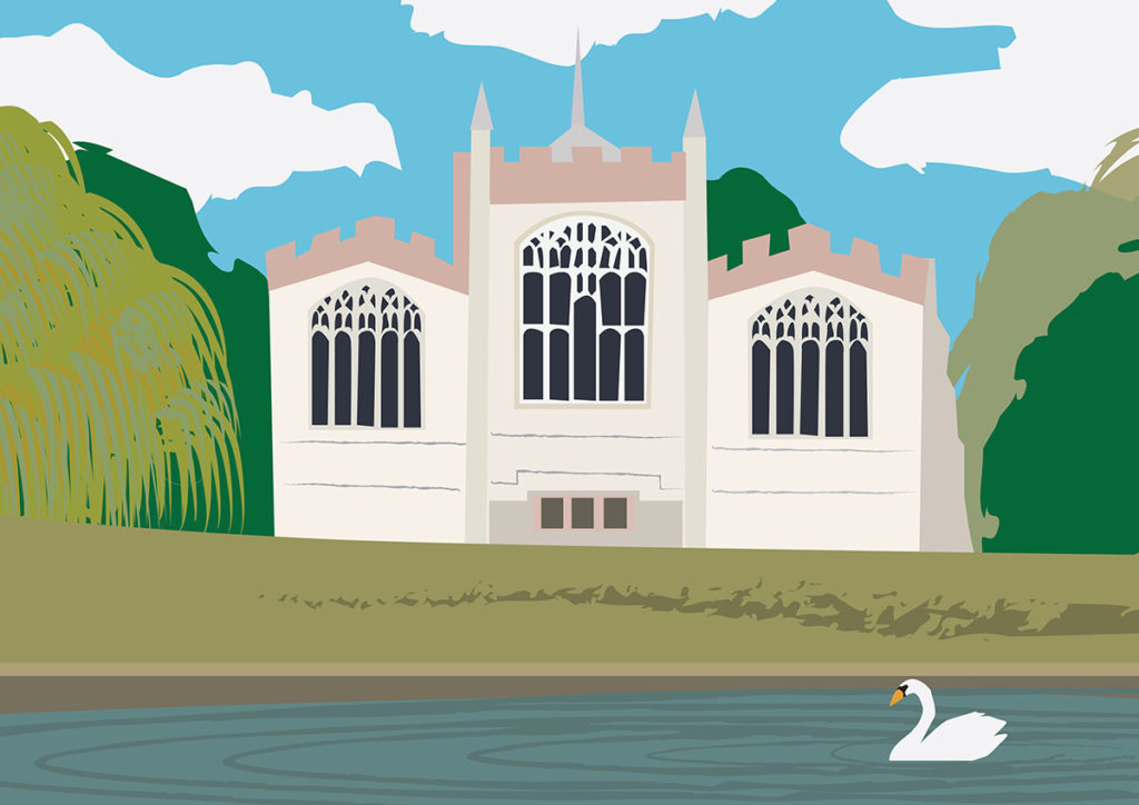 Digital drawing of St Mary's Hitchin